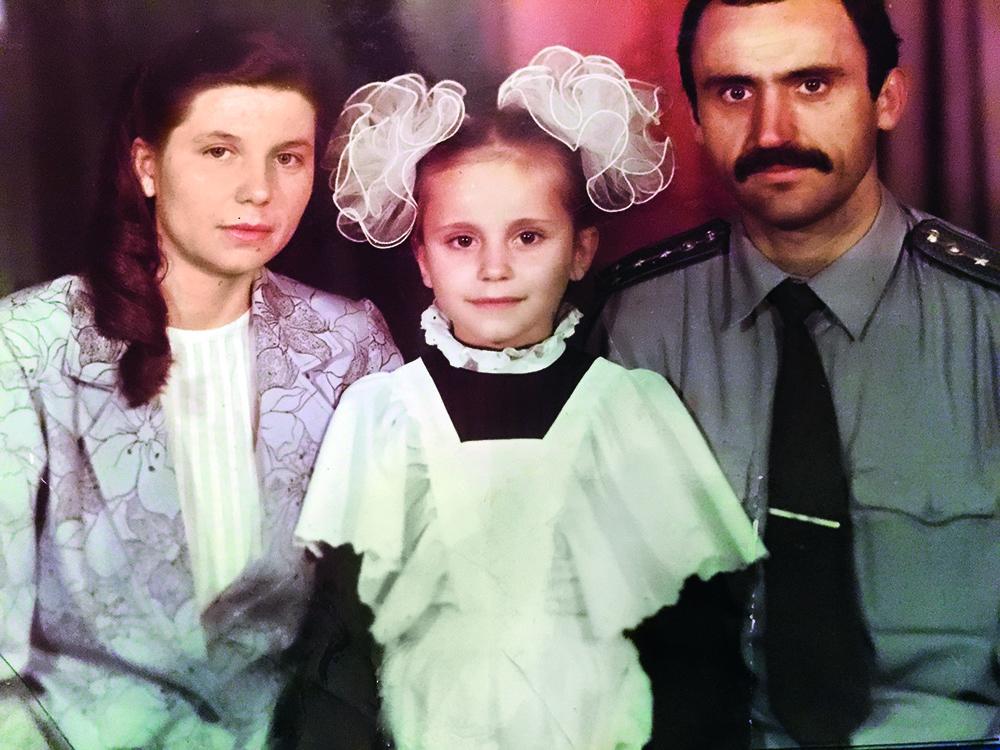 Лилия Ребрик с родителями