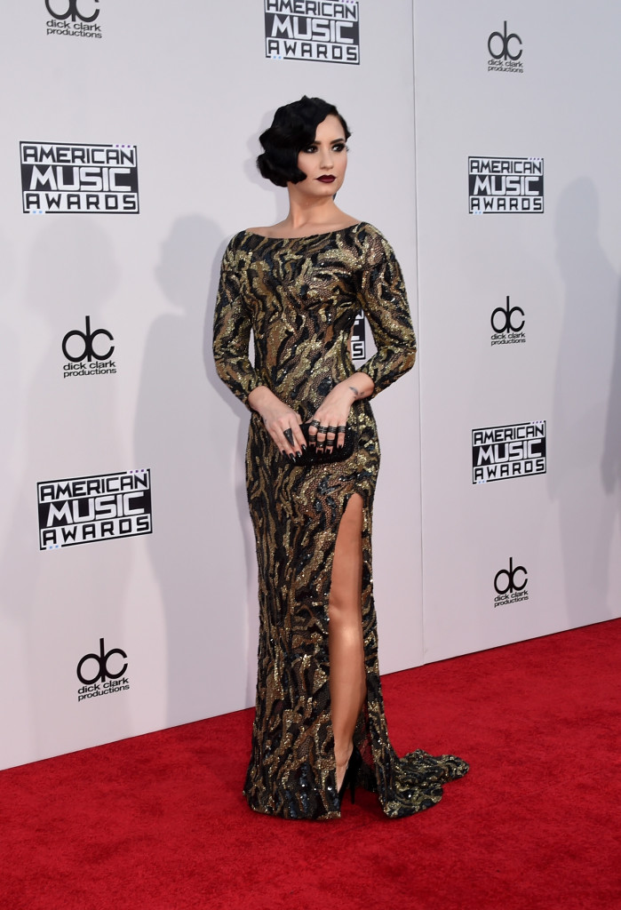 LOS ANGELES, CA - NOVEMBER 22: Recording artist Demi Lovato attends the 2015 American Music Awards at Microsoft Theater on November 22, 2015 in Los Angeles, California. (Photo by Jason Merritt/Getty Images)
