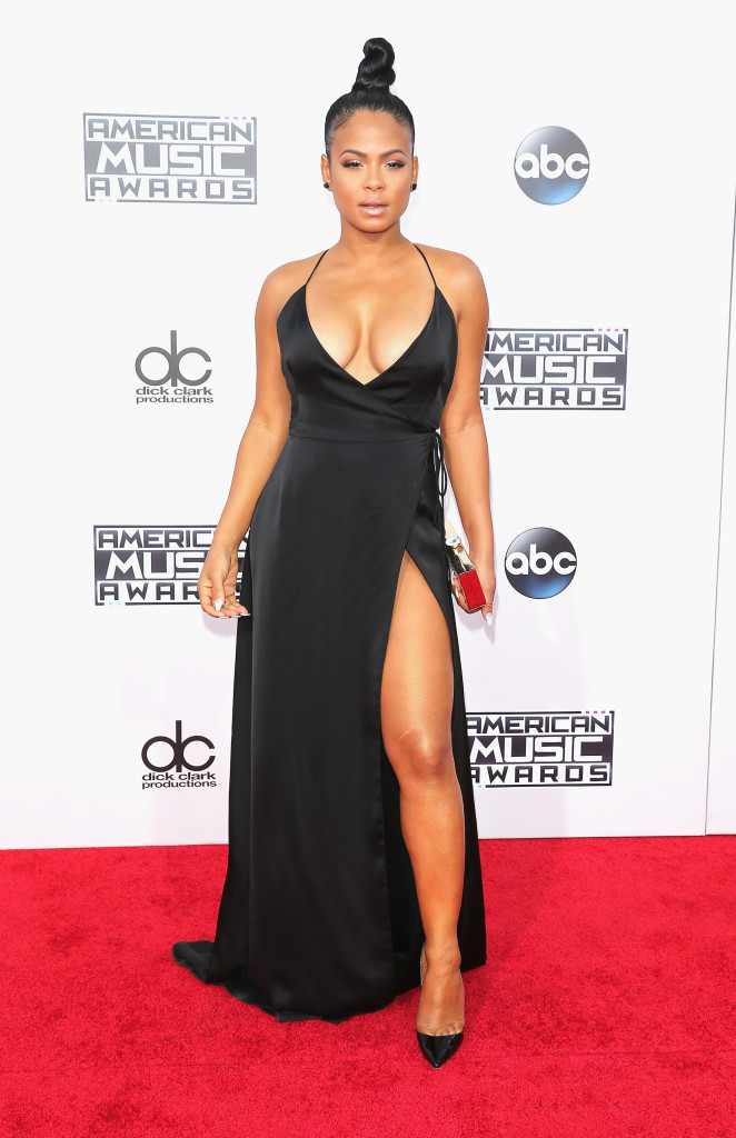 LOS ANGELES, CA - NOVEMBER 22: Actress Christina Milian attends the 2015 American Music Awards at Microsoft Theater on November 22, 2015 in Los Angeles, California. (Photo by Mark Davis/Getty Images)