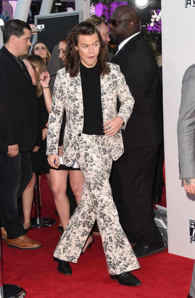 LOS ANGELES, CA - NOVEMBER 22: Recording artist Harry Styles of One Direction attends the 2015 American Music Awards at Microsoft Theater on November 22, 2015 in Los Angeles, California. (Photo by Jason Merritt/Getty Images)