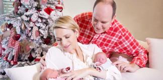 Князь Монако с семьей