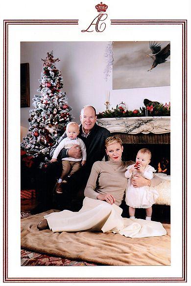 Князь Альбер, княгиня Шарлен, принц Жак, принцесса Габриэлла