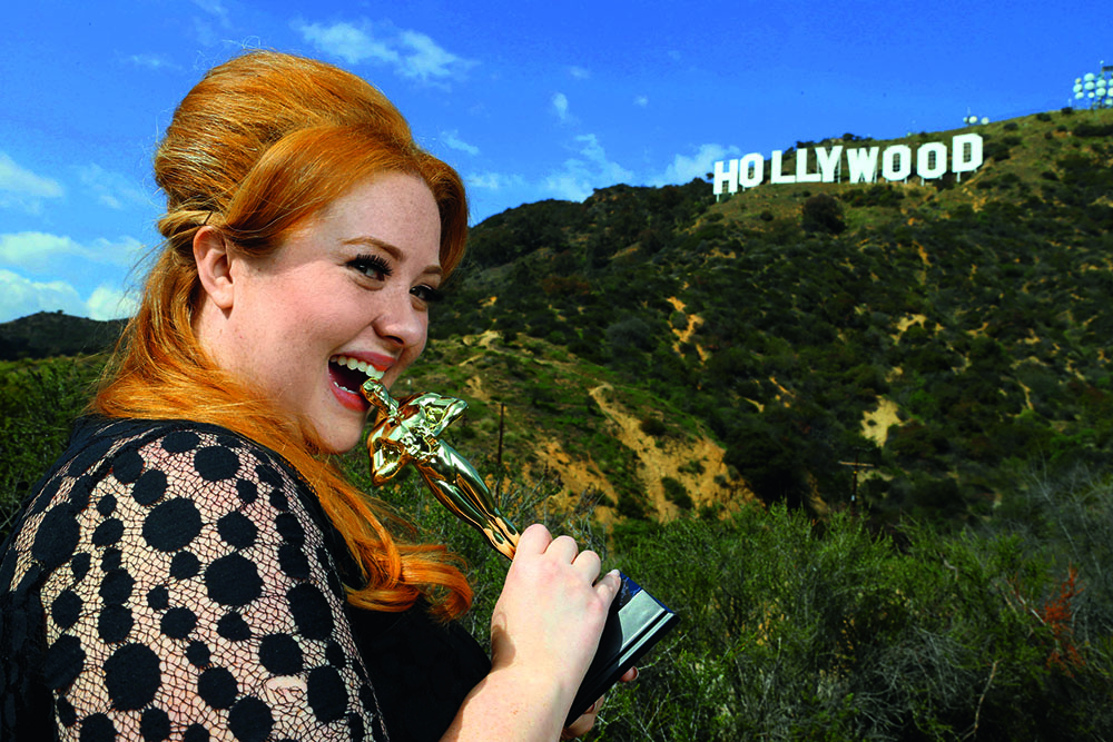 Адель в Голливуде перед «Оскаром», 2013 г.