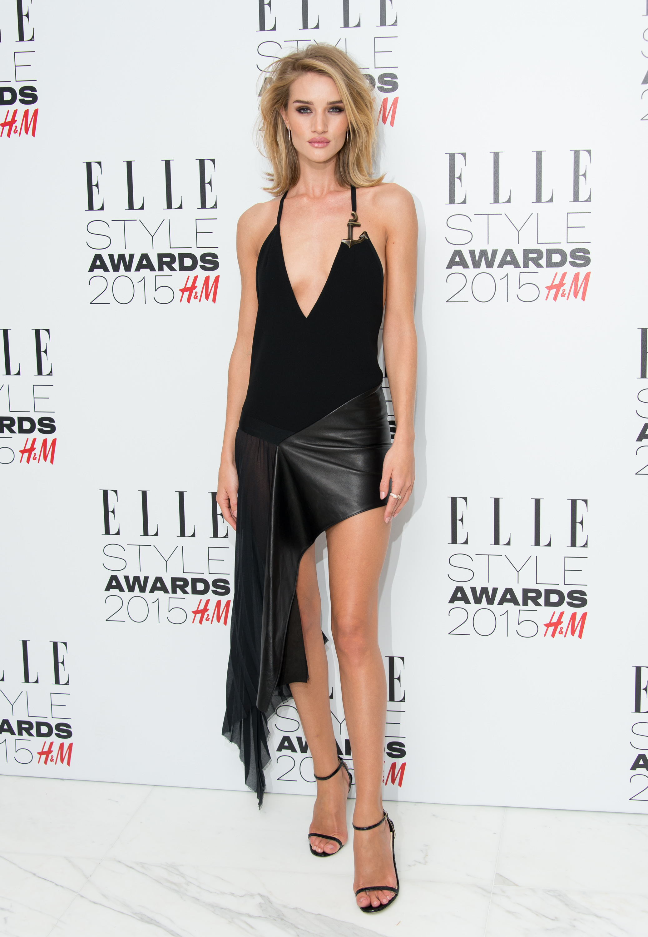LONDON, ENGLAND - FEBRUARY 24: Rosie Huntington-Whiteley attends the Elle Style Awards 2015 at Sky Garden @ The Walkie Talkie Tower on February 24, 2015 in London, England. (Photo by Ian Gavan/Getty Images)