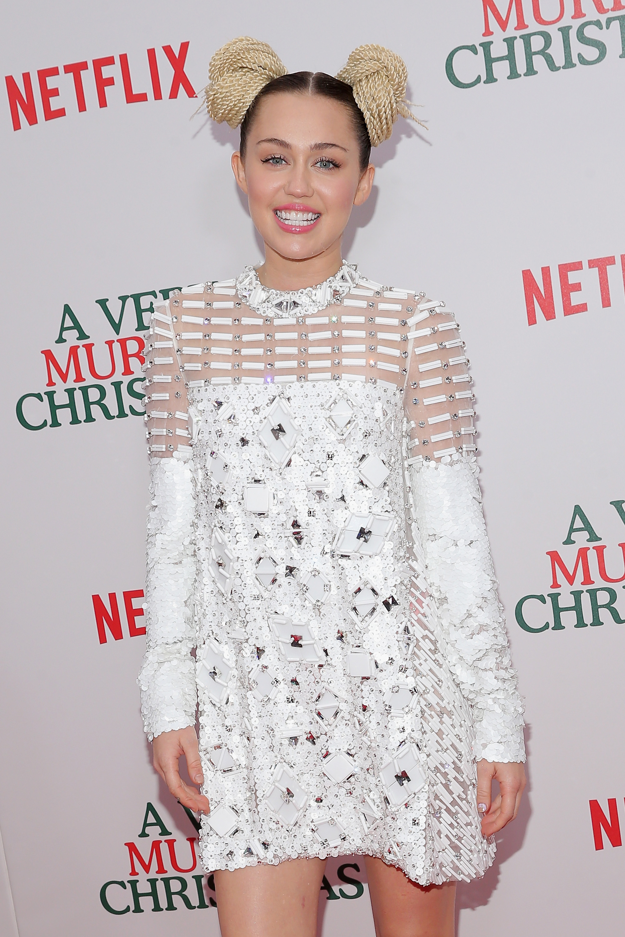 "attends the ""A Very Murray Christmas"" New York Premiere at Paris Theater on December 2, 2015 in New York City."