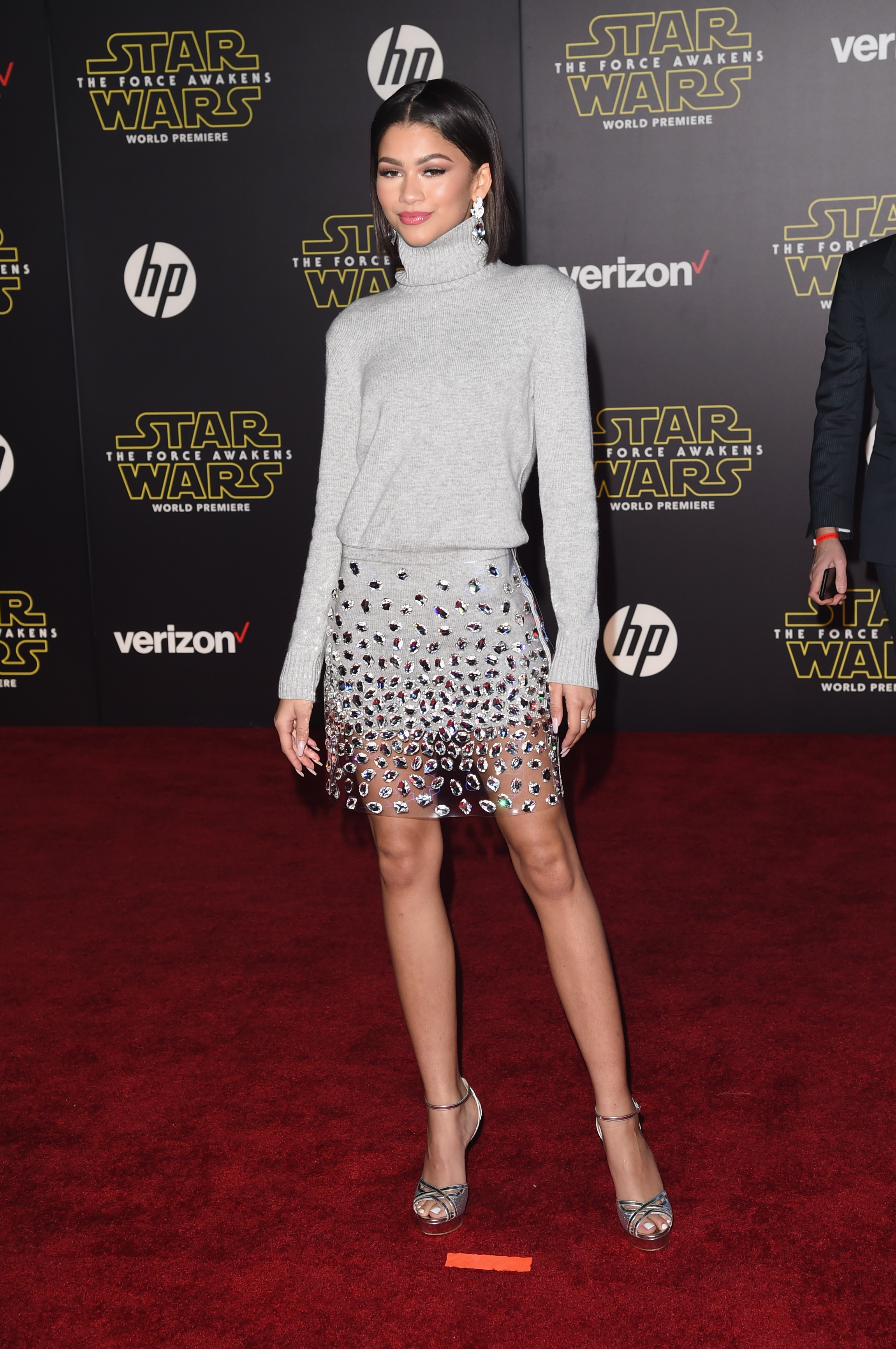 "attends Premiere of Walt Disney Pictures and Lucasfilm's ""Star Wars: The Force Awakens"" on December 14, 2015 in Hollywood, California."