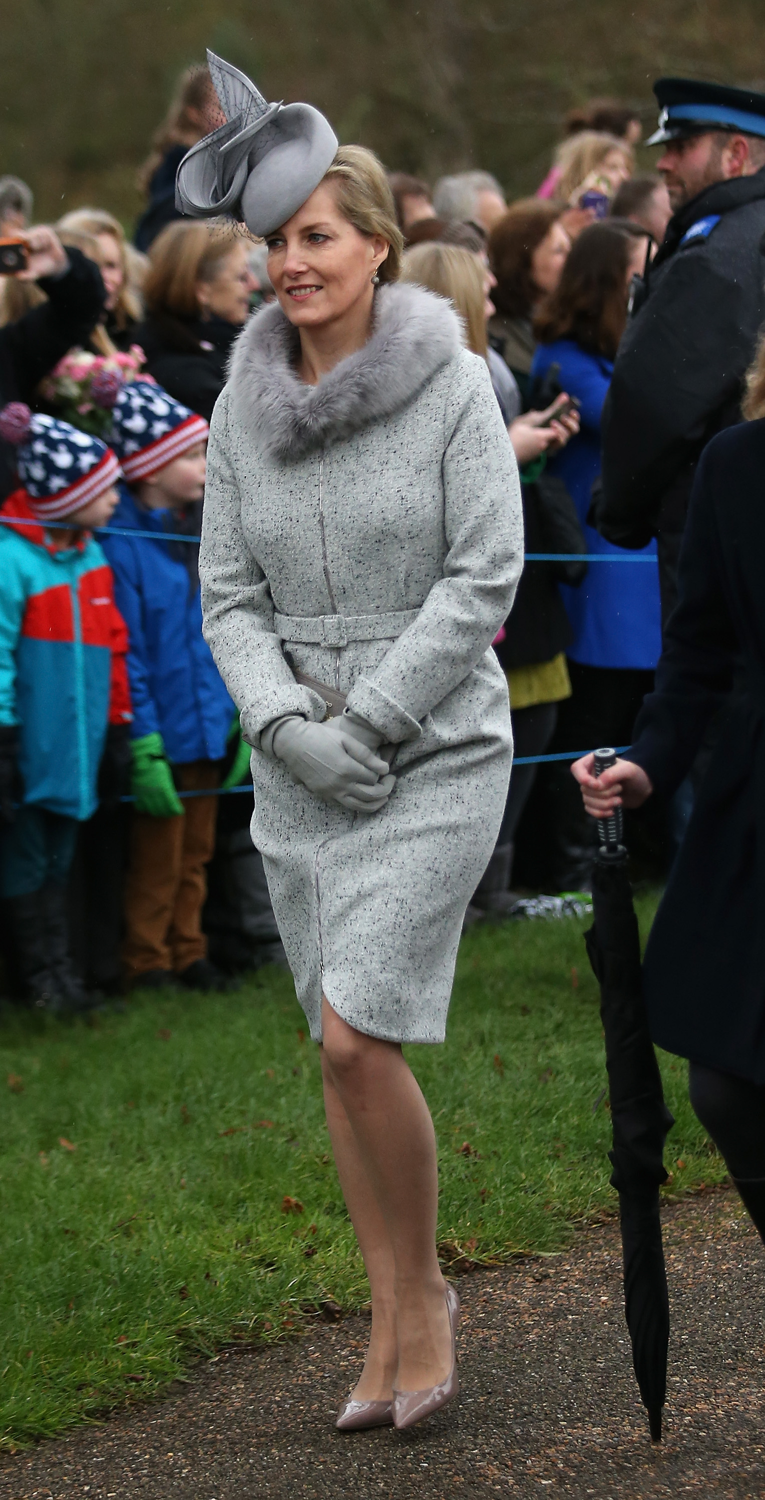KING'S LYNN, ENGLAND - DECEMBER 25: Sophie, Countess of Wessex attends a Christmas Day church service at Sandringham on December 25, 2015 in King's Lynn, England. (Photo by Chris Jackson/Getty Images)