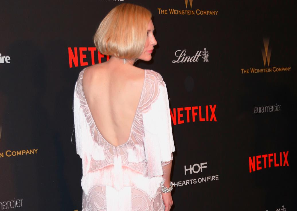 Прическа Кейт Бланшетт на Золотом глобусе