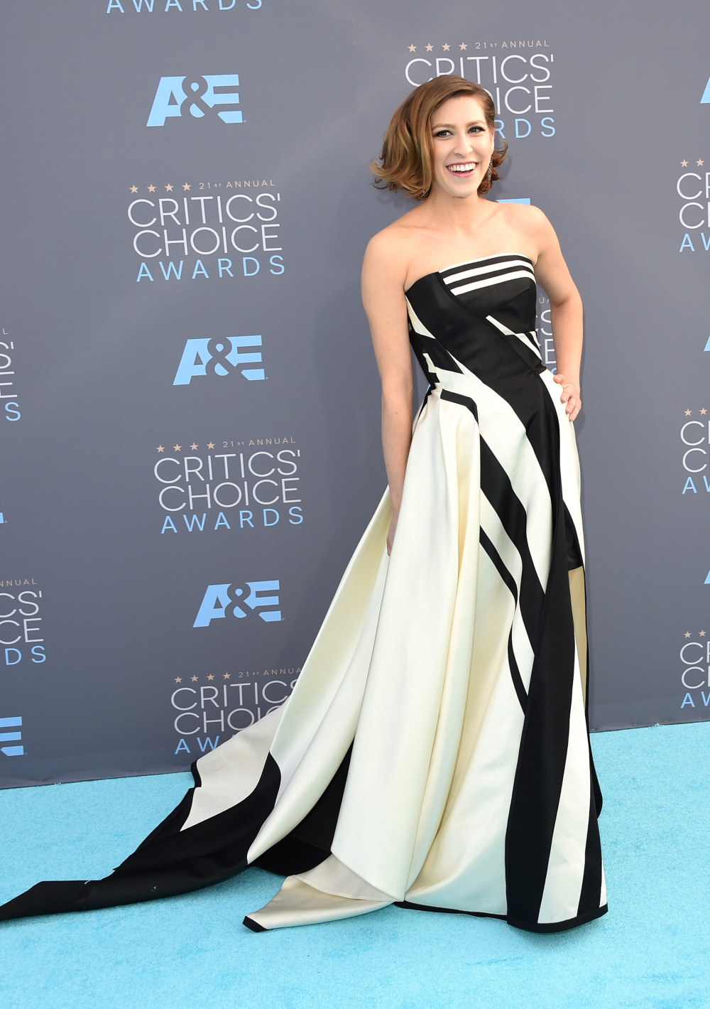 SANTA MONICA, CA - JANUARY 17: Actress Eden Sher attends the 21st Annual Critics' Choice Awards at Barker Hangar on January 17, 2016 in Santa Monica, California. (Photo by Jason Merritt/Getty Images)