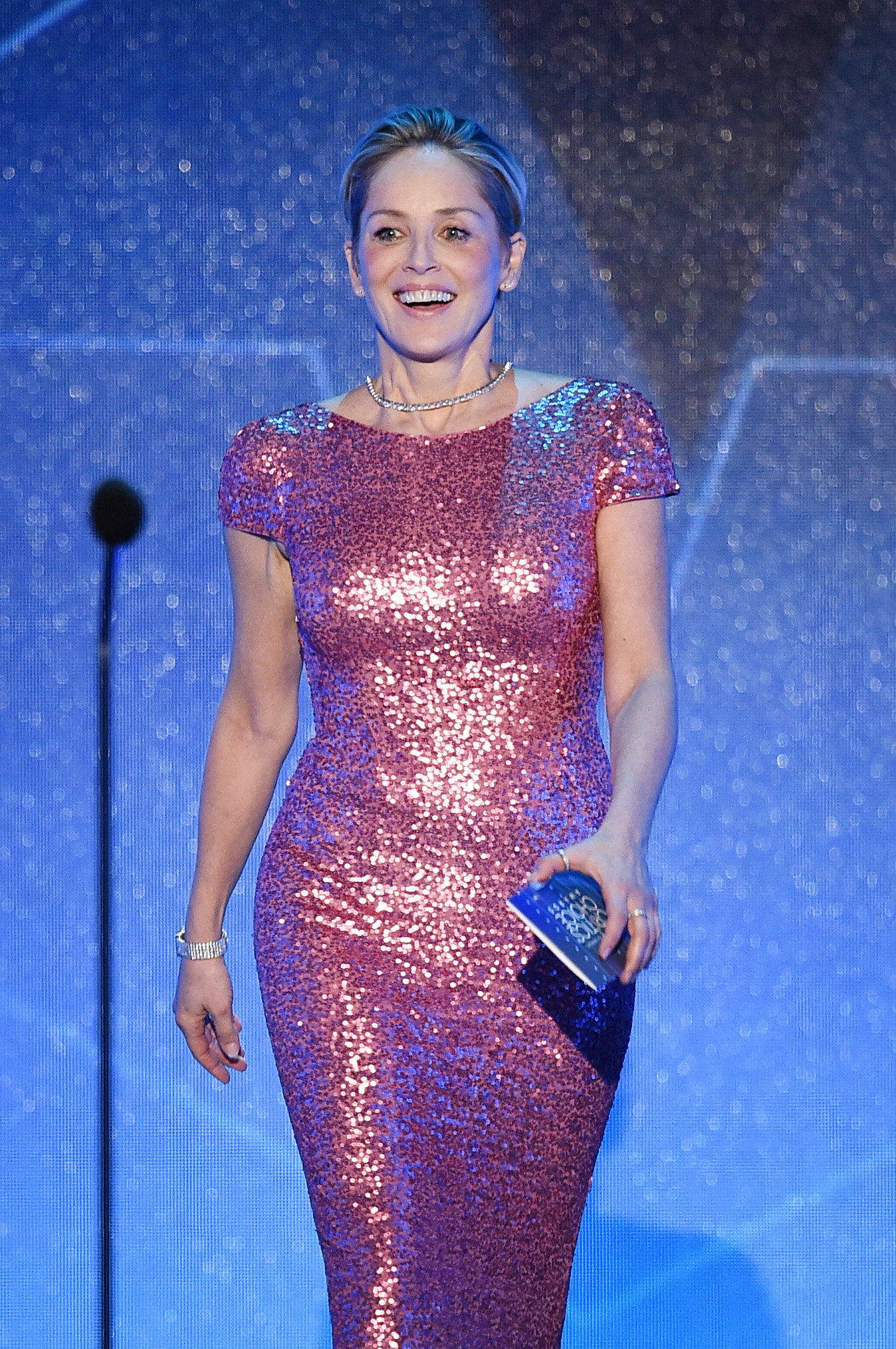 speaks onstage during the 21st Annual Critics' Choice Awards at Barker Hangar on January 17, 2016 in Santa Monica, California.