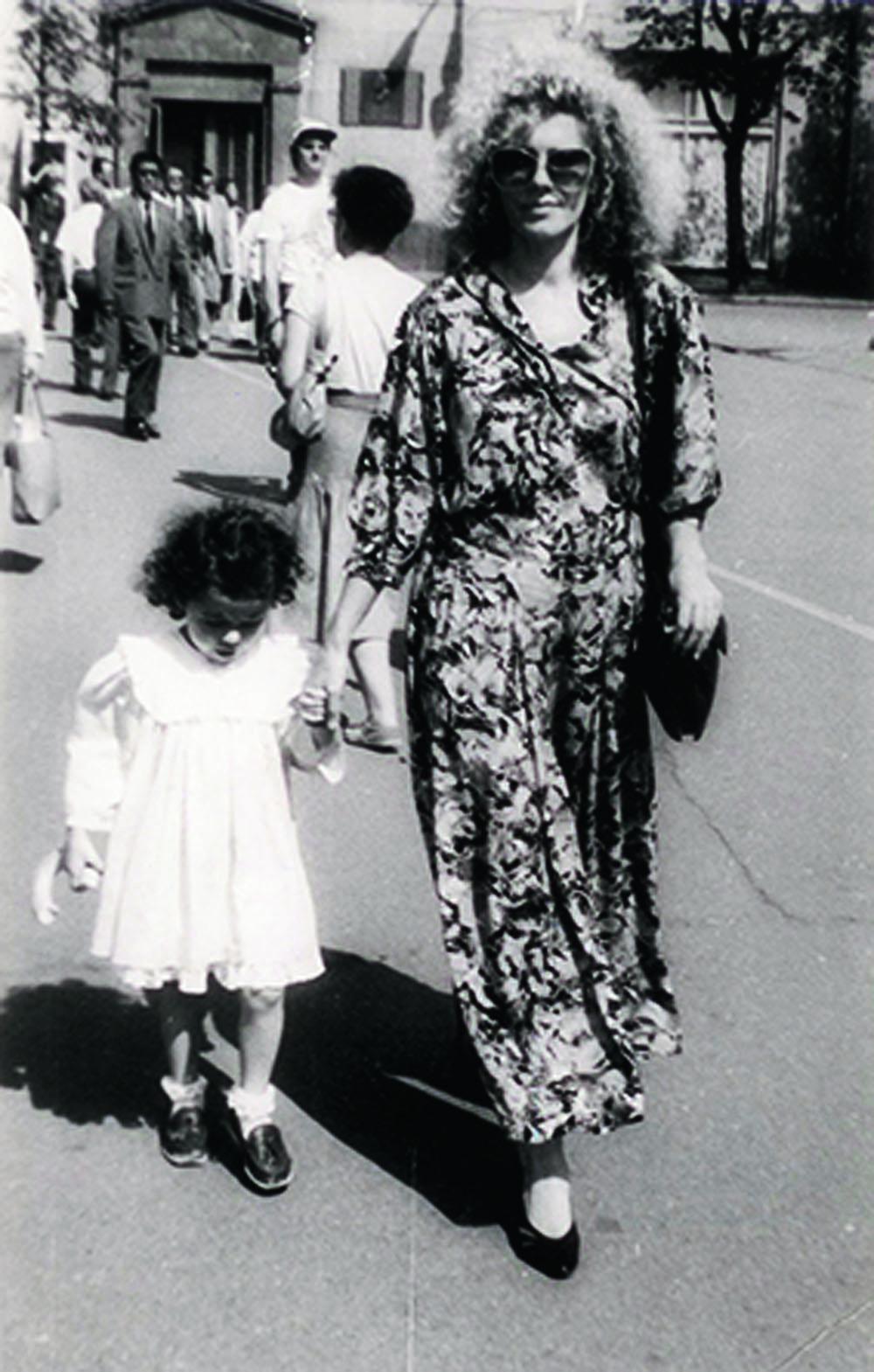 1990 г., Москва. Прогулка с мамой по Арбат