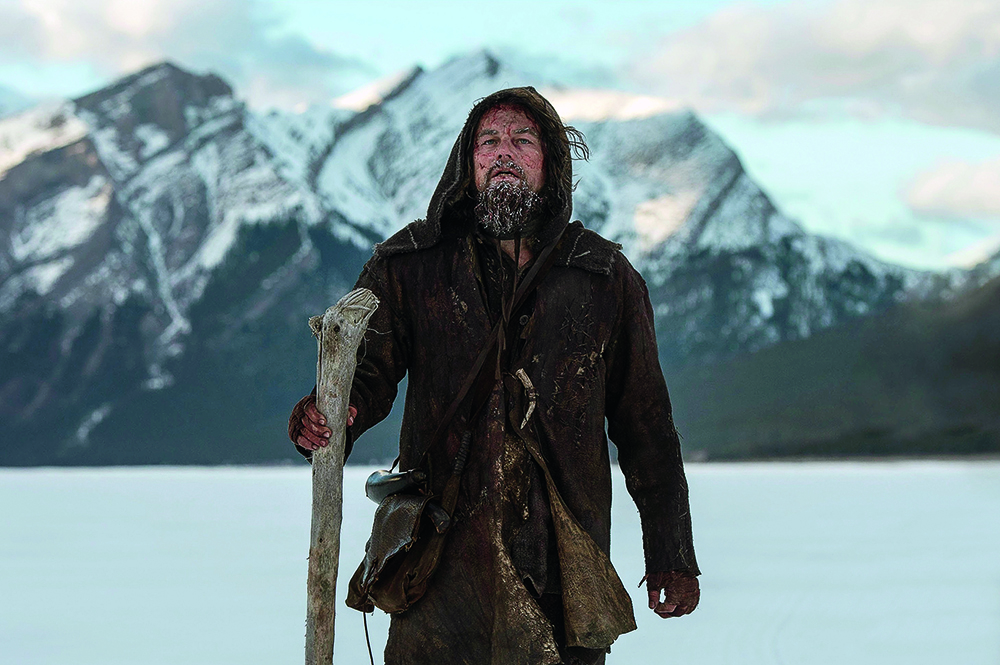 THE REVENANT, Leonardo DiCaprio, 2015. ph: Kimberley French/TM and Copyright ?20th Century Fox Film Corp. All rights reserved./Courtesy Everett Collection