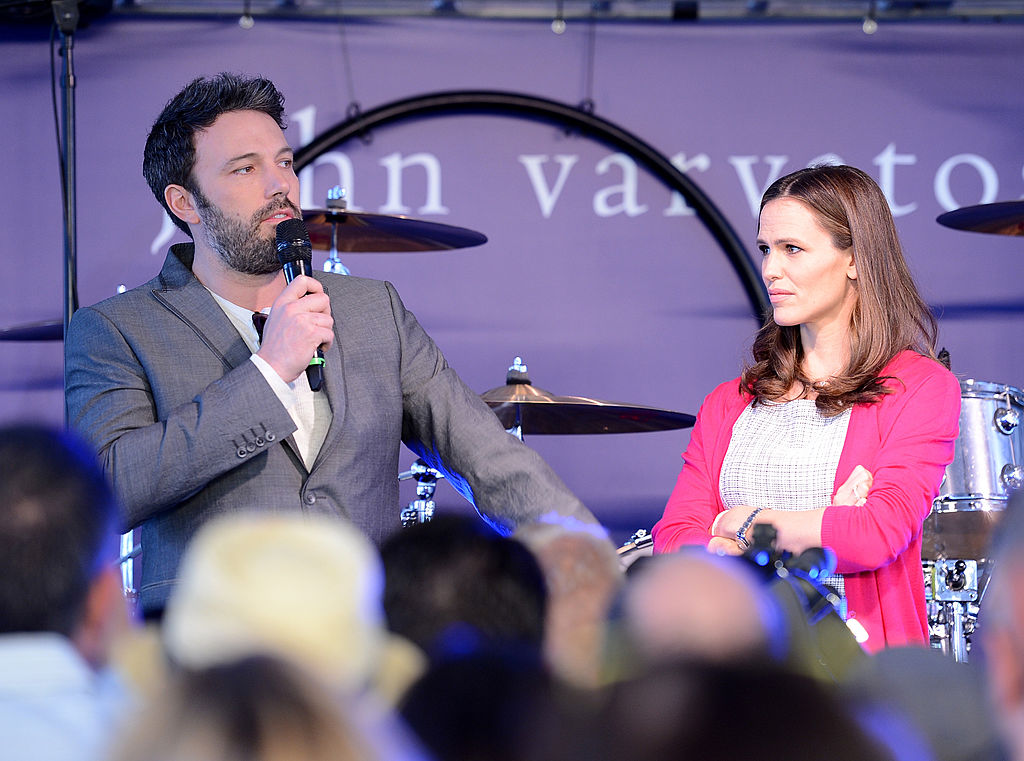 LOS ANGELES, CA - MARCH 10: Actor/director Ben Affleck and actress Jennifer Garner speaks onstage at the John Varvatos 10th Annual Stuart House Benefit presented by Chrysler, Kids Tent by Hasbro Studios, at John Varvatos Los Angeles on March 10, 2013 in Los Angeles, California. (Photo by Jason Merritt/Getty Images for John Varvatos)