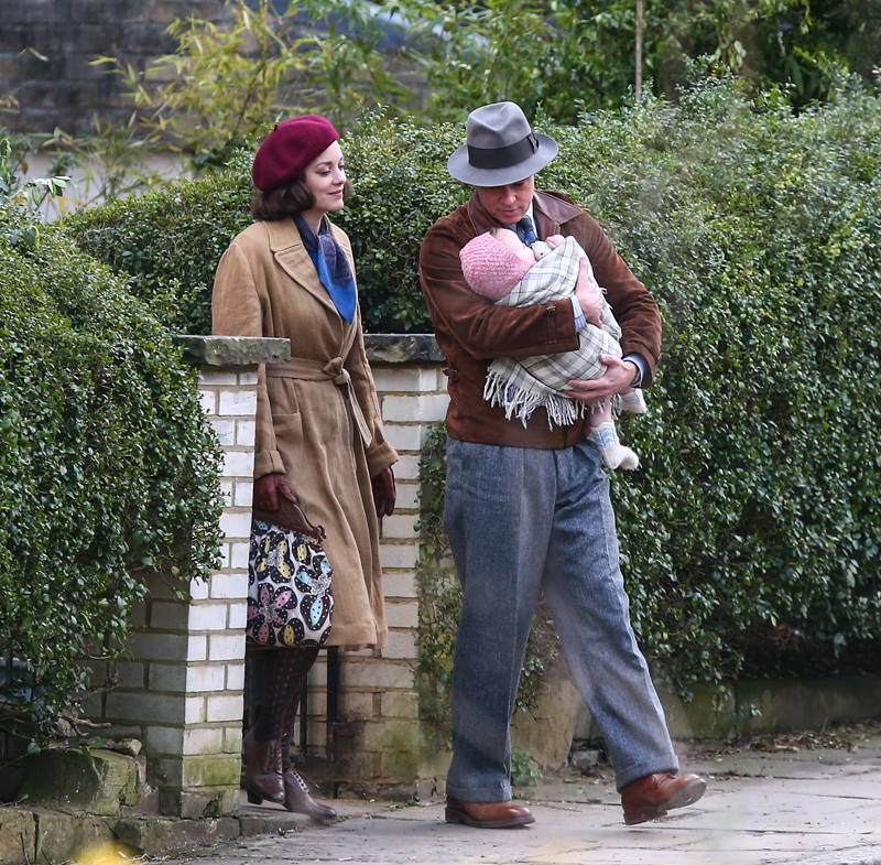 Featuring: Brad Pitt, Marion Cotillard Where: Surrey, United Kingdom When: 31 Mar 2016 Credit: WENN.com