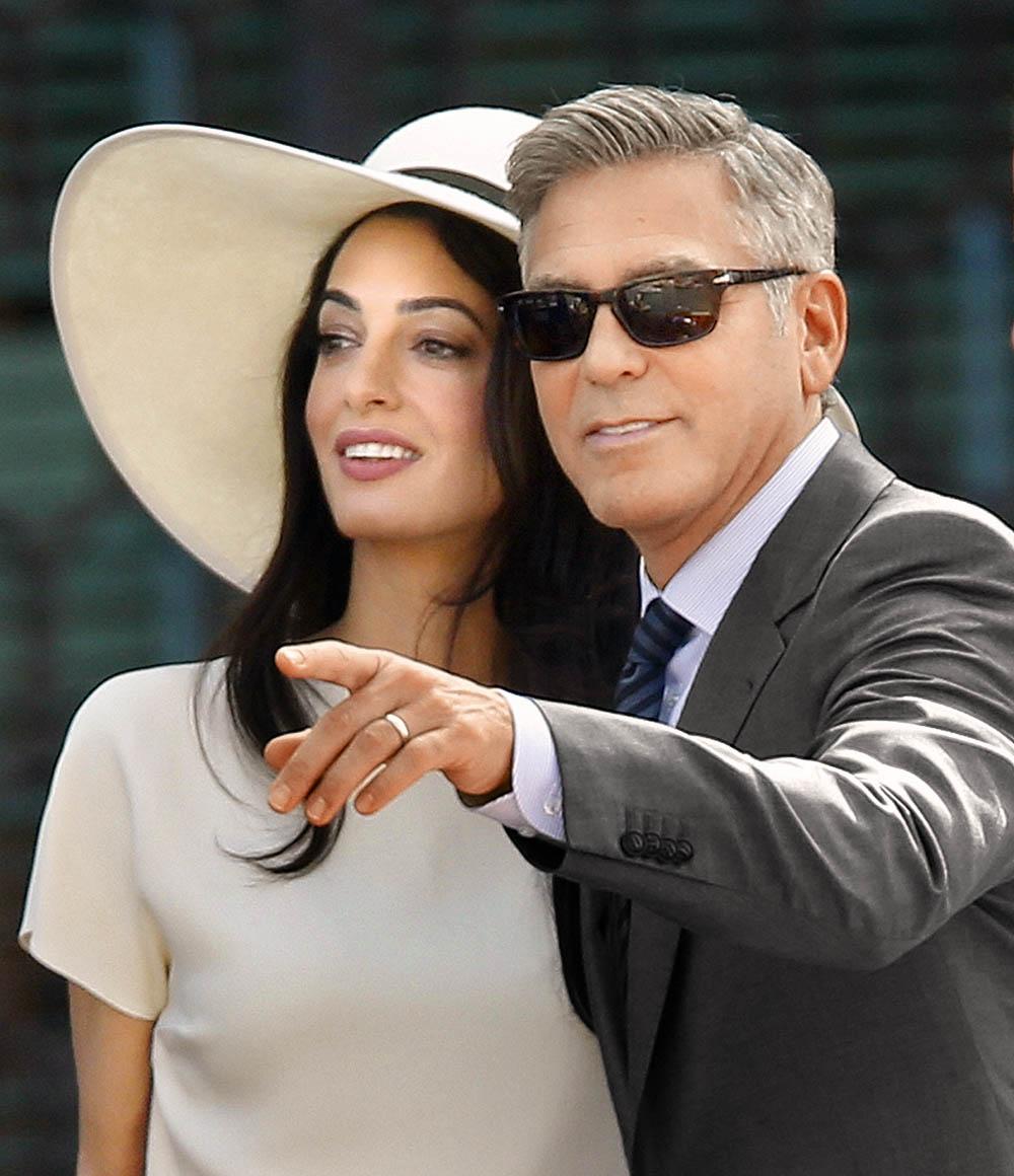 Джордж Клуни и Амаль, 2014 г.