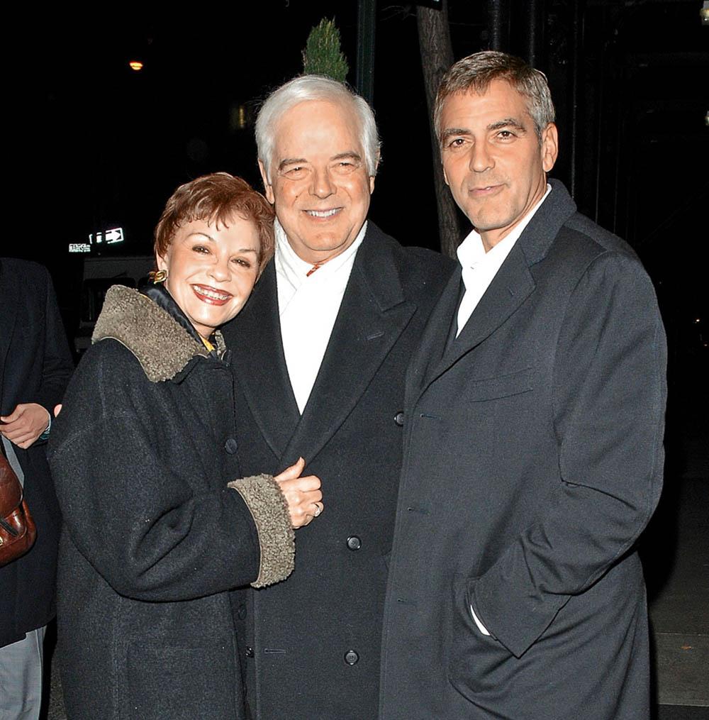 Джордж Клуни с родителями, 2008 г.