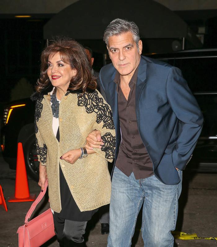Джордж Клуни с тещей