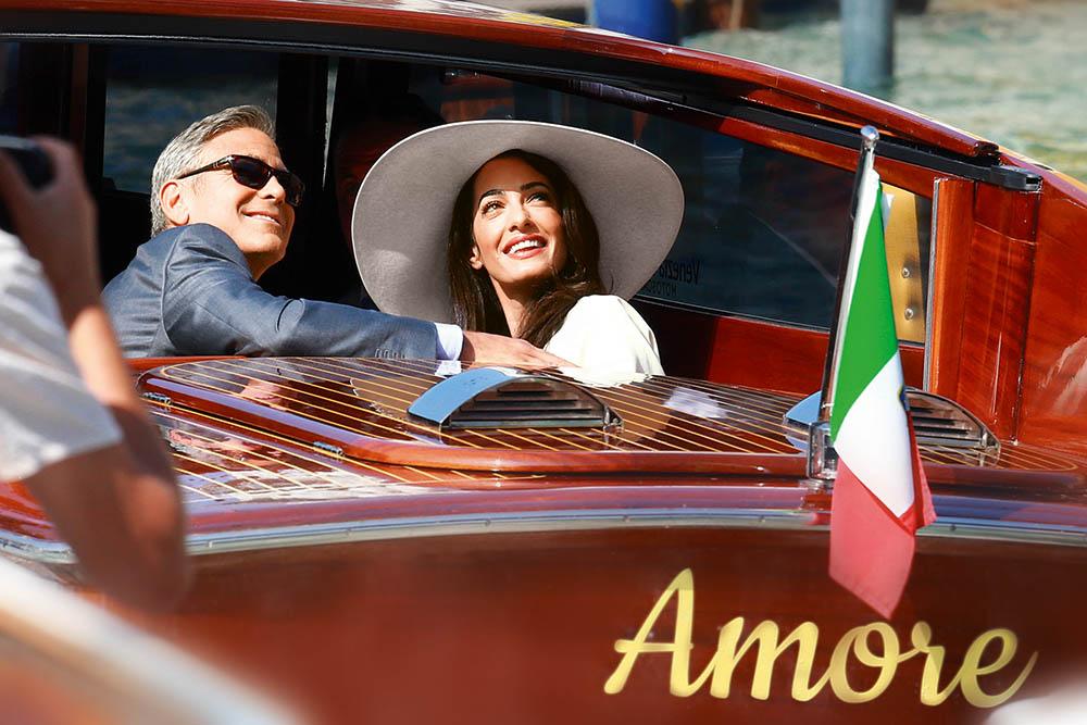 Молодожены Джордж Клуни и Амаль Аламуддин: в Венеции, сразу после свадьбы,