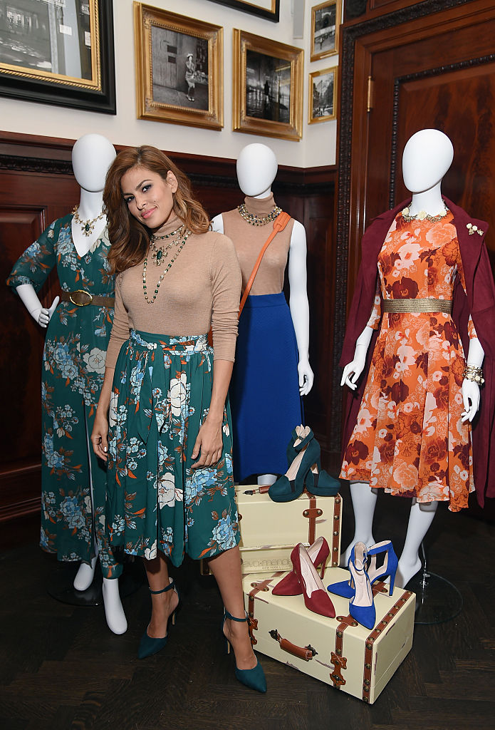NEW YORK, NY - SEPTEMBER 16: Eva Mendes launches Fall 2015 New York & Company Collection at The Clocktower on September 16, 2015 in New York City. (Photo by Michael Loccisano/Getty Images for New York & Company)