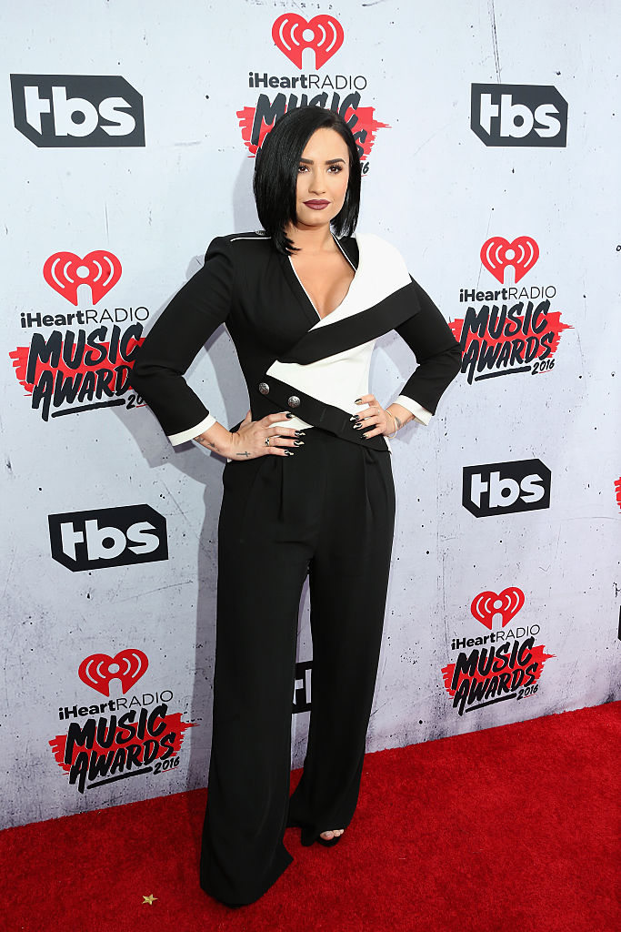 INGLEWOOD, CALIFORNIA - APRIL 03: Actress/singer Demi Lovato attends the iHeartRadio Music Awards at The Forum on April 3, 2016 in Inglewood, California. (Photo by Frederick M. Brown/Getty Images)