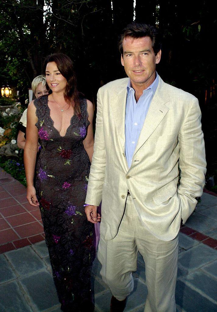 Пирс Броснан с Кили Шэй Смит в 2000 году