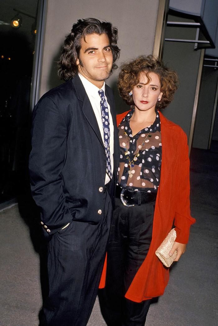 Джордж Клуни с первой женой Талией Болсам, 1990 г.