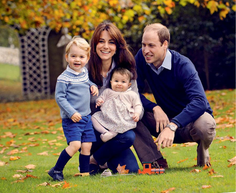 Герцогиня Кэтрин и принц Уильям принцесса Шарлотта принц Джордж