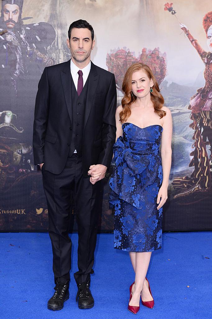 Саша Барон Коен с женой