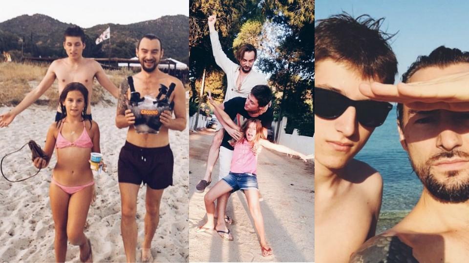 Алан Бадоев с детьми