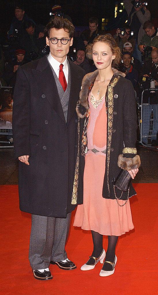 Джонни Депп с Ванессой Паради 2004