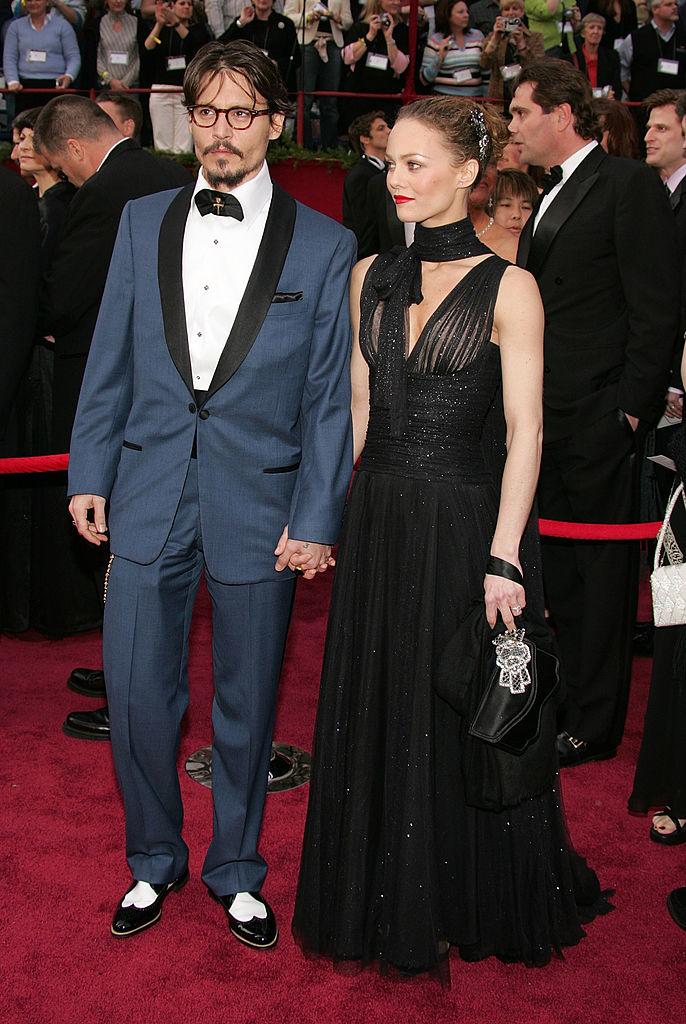 Джонни Депп с Ванессой Паради Оскар 2005