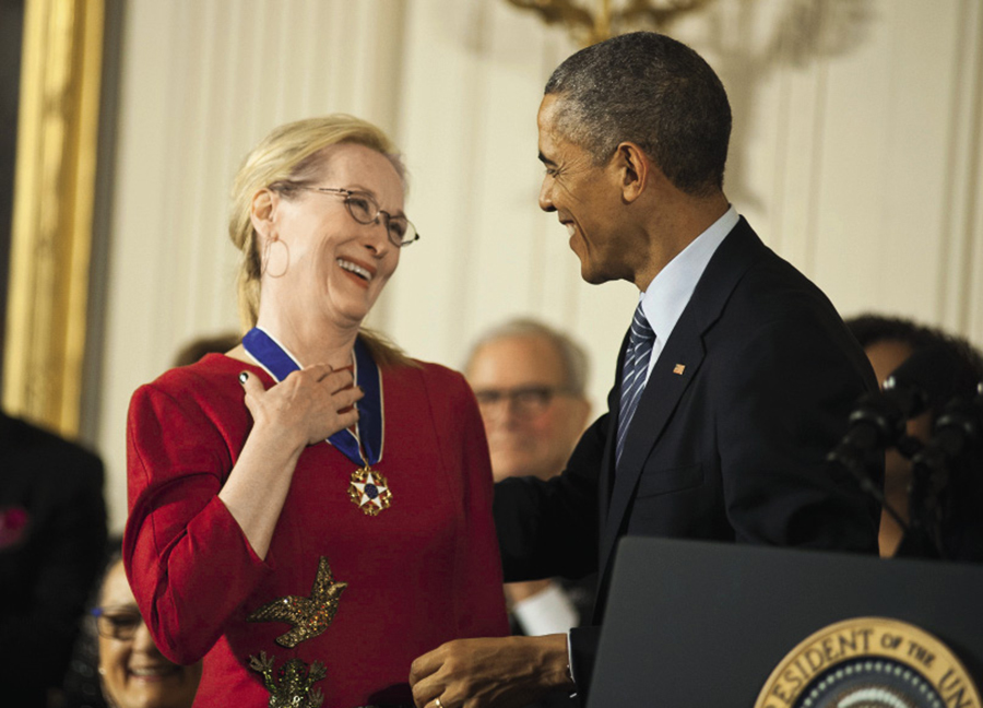 Мерил Стрип Барак Обама