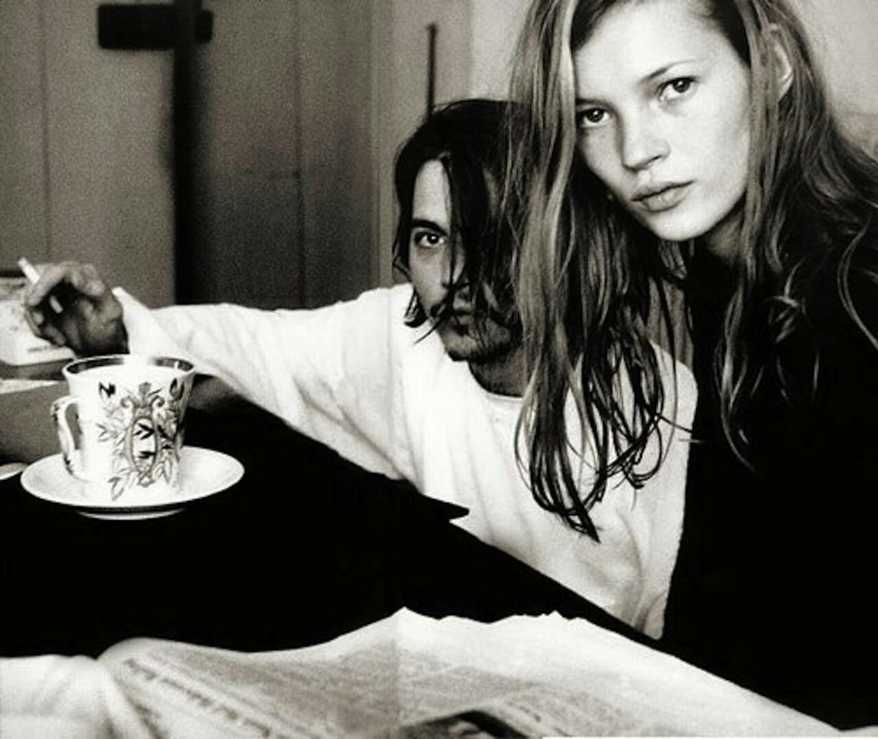 Джонни Депп и Кейт Мосс 1994