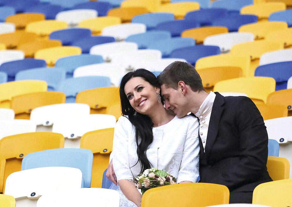 Свадьба Соломии Витвицкой и Влада Кочаткова на НСК «Олимпийский», ноябрь 2013 г.
