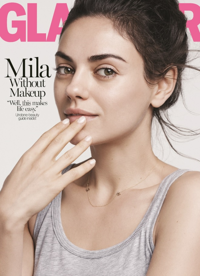 Мила Кунис без макияжа
