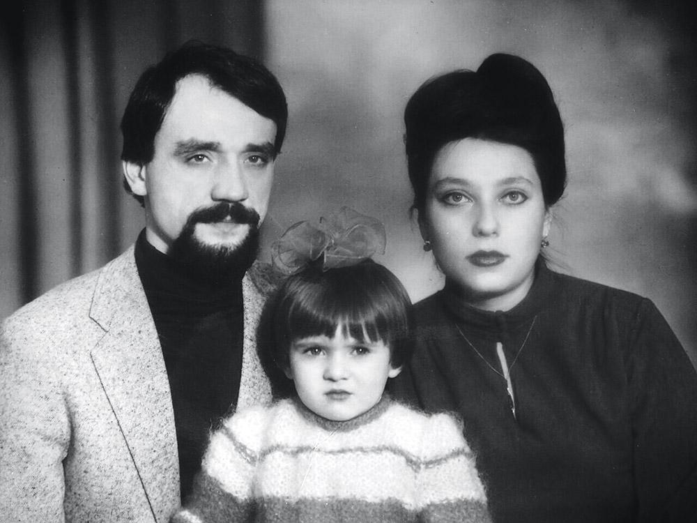Соломия Витвицкая с мамой и папой, 1983 г.
