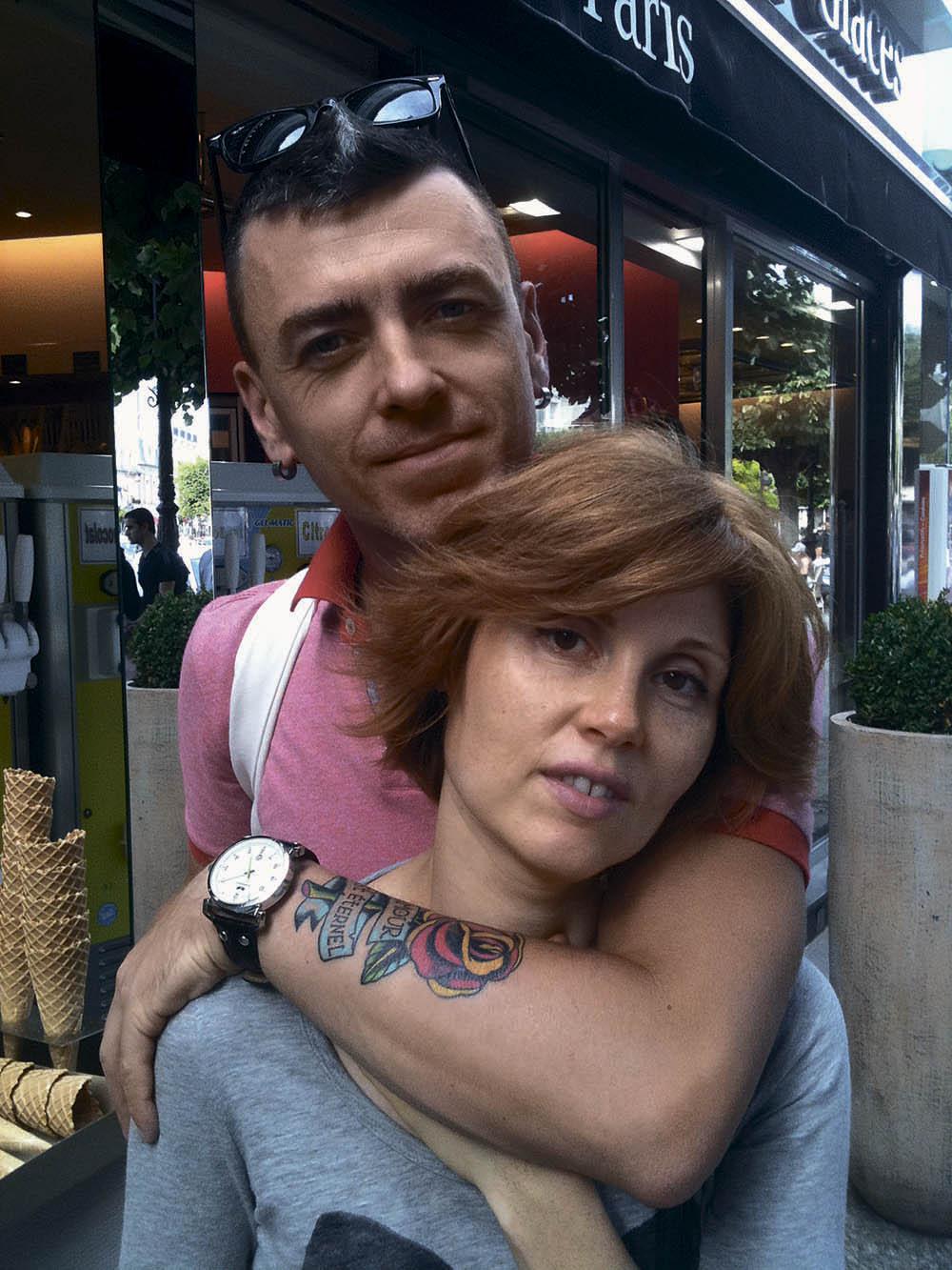 Евгения Гапчинская с мужем Дмитрием во Франции