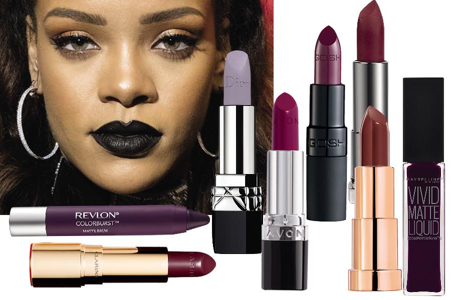 Рианна макияж черные губы