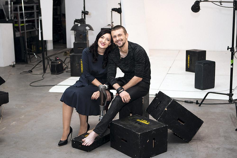 Соломия Витвицкая с героем АТО Юрием Весельским, декабрь 2015 г.