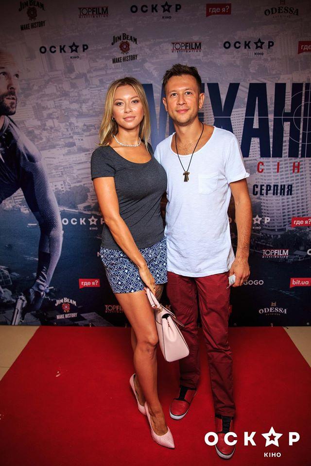 Дмитрий Ступка с женой Полиной Логуновой