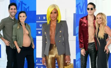 пиджак на голое тело MTV VMA 2016