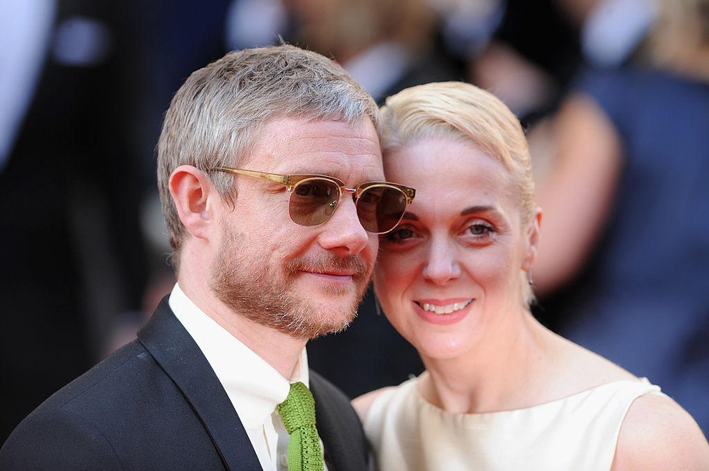 Мартин Фриман с женой