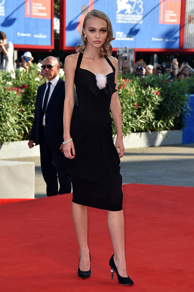 VENICE, ITALY - SEPTEMBER 08: Actress Lily-Rose Depp attends the premiere of 'Planetarium' during the 73rd Venice Film Festival at Sala Grande on September 8, 2016 in Venice, Italy. (Photo by Pascal Le Segretain/Getty Images)