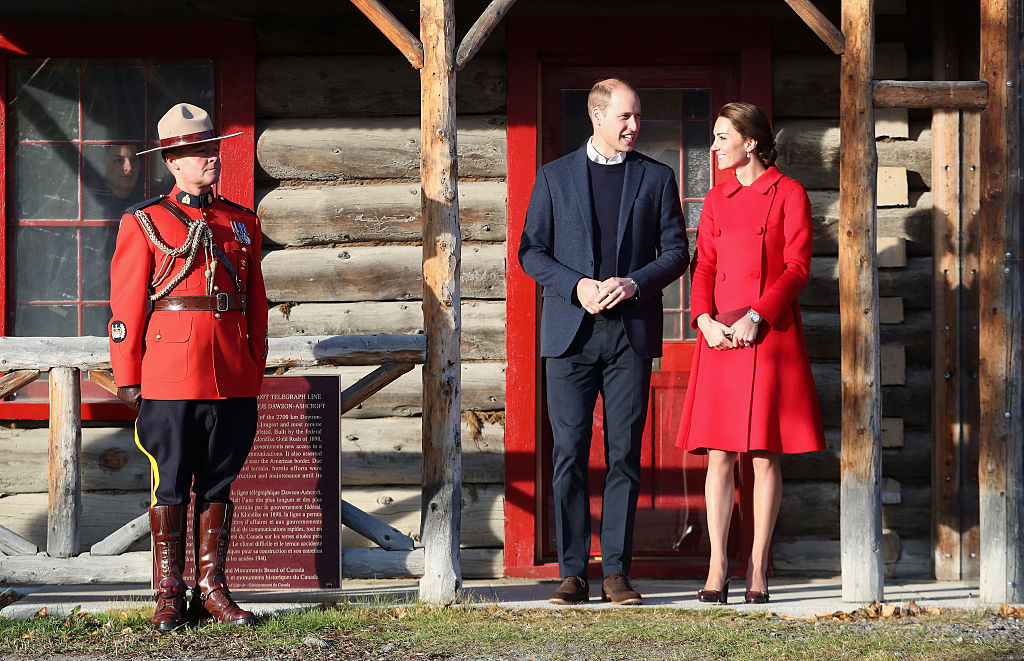 Duke of Cambridge leave McBride Museum during the Royal Tour of Canada on September 28, 2016 in Whitehorse, Canada. Prince William, Duke of Cambridge, Catherine, Duchess of Cambridge, Prince George and Princess Charlotte are visiting Canada as part of an eight day visit to the country taking in areas such as Bella Bella, Whitehorse and Kelowna (Photo by Chris Jackson/Getty Images)