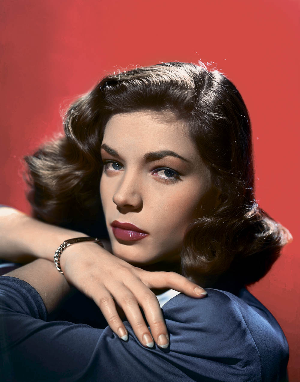 Close-up portrait of Lauren Bacall Restricted to editorial use related to the film or the individuals involved (producers, directors, authors, actors, etc.)