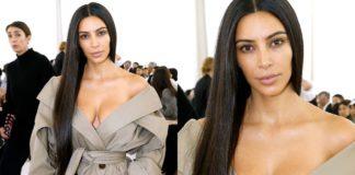 Ким Кардашян без макияжа