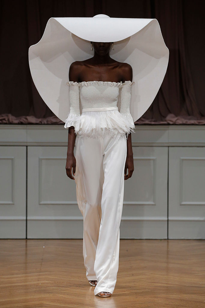 NEW YORK, NY - OCTOBER 09: A model walks the runway at the Alon Livne White 2017 Bridal Collection at the Bohemian Benevolent and Literary Association on October 9, 2016 in New York City. (Photo by JP Yim/Getty Images for ALON LIVNE)