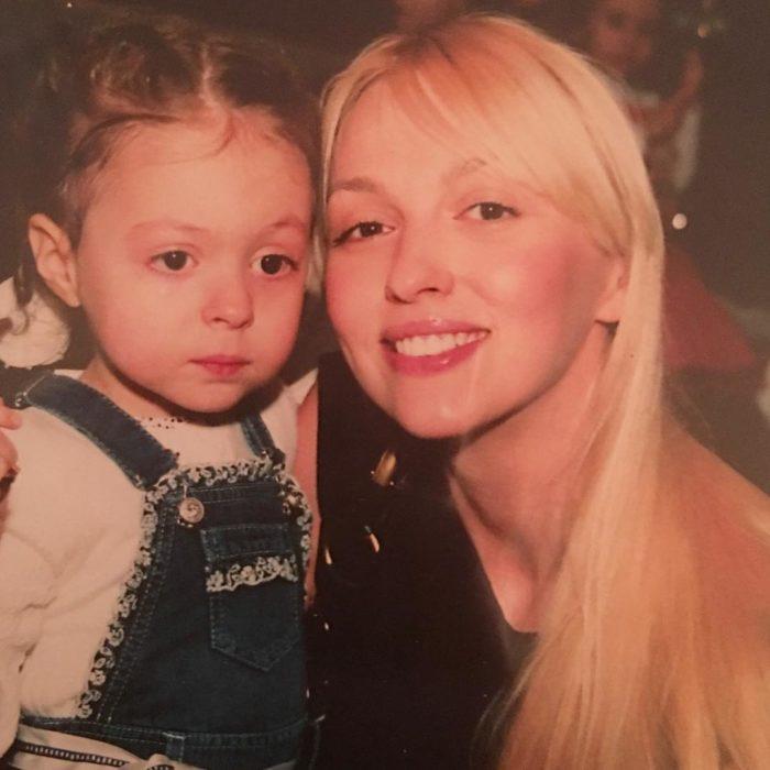 Полякова с дочерью