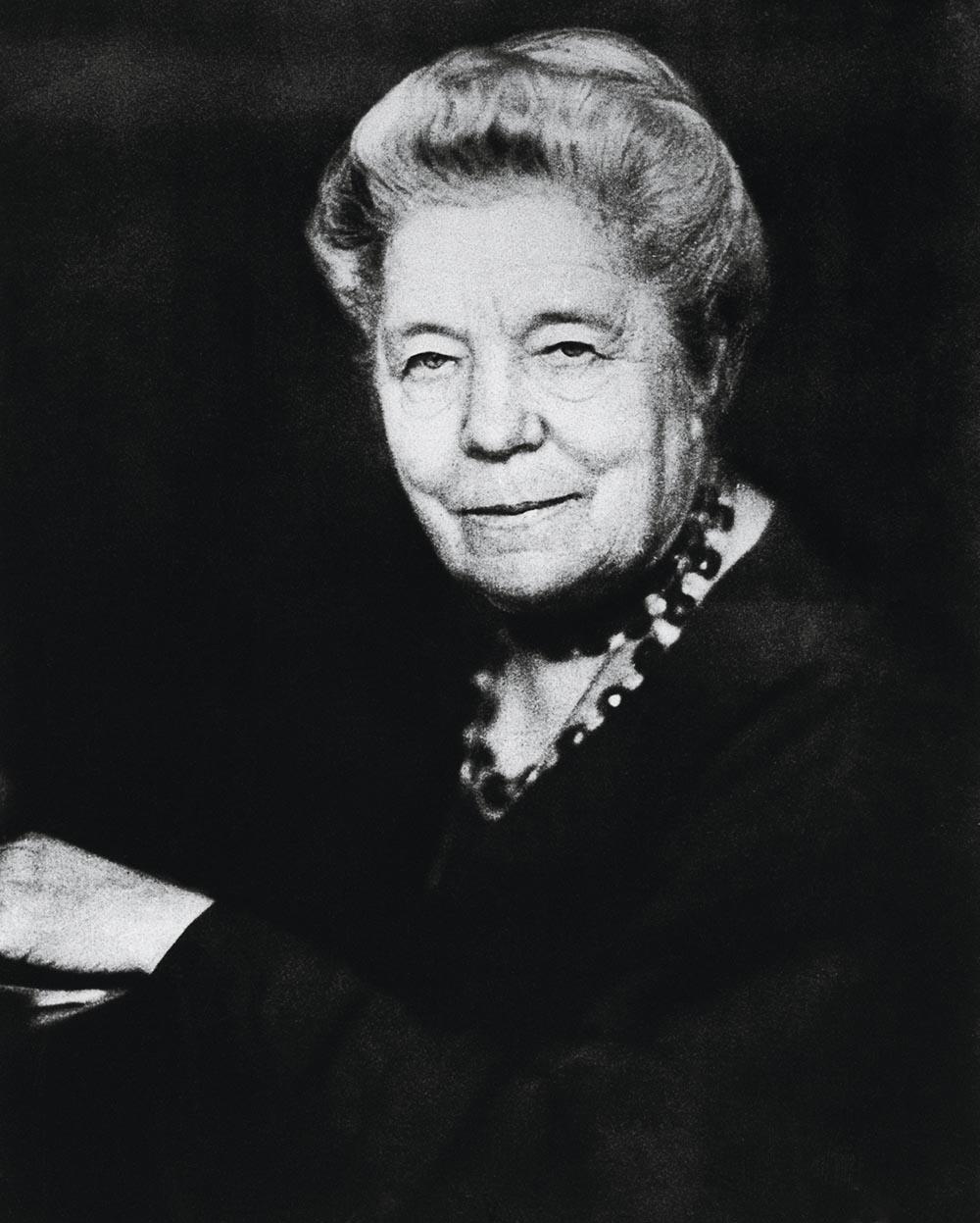 Lagerlцf, Selma schwed. Schriftstellerin, 1909 Nobelpreis fьr Literatur, Marbacka, Vдrmland 20.11.1858 Ц ebd. 16.3.1940. Portrдtaufnahme, um 1925.