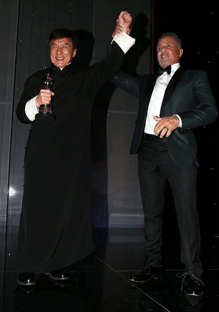 Джеки Чан и Сельвестр Сталлоне Оскар 2016